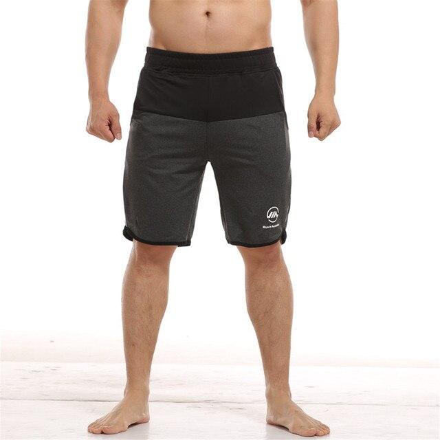 Homens Calções Musculação Academias de fitness Na Altura Do Joelho Corredores Treino Crossfit Bottoms Masculino Verão Casual Praia Calças Curtas de secagem rápida