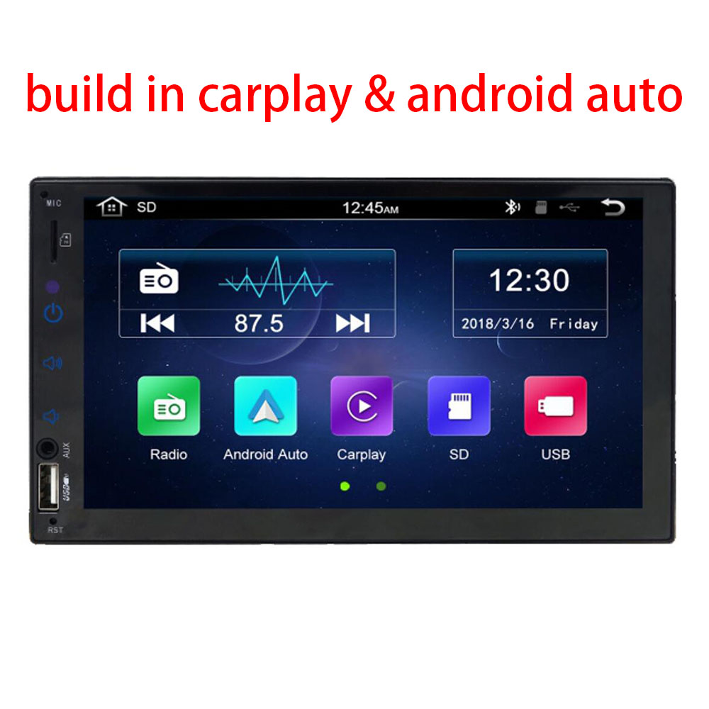 2 Din 7 1024 600 build in Carplay Android auto Car Radio Car Stereo Radio Multimedia