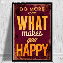HD Motivational Typography Life Quotes Classic Vintage Retro Prints Poster Hippie Art Wall Pictures Canvas Painting Home Decor(China)
