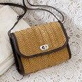 Veevan 2016 moda simples bolsa de palha ocasional verão Weave bolsa saco mulheres mensageiro fresco pequena bolsa