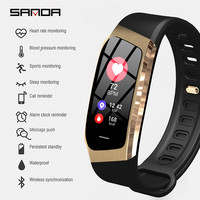 Bluetooth Smart Watch Men SANDA Touch Screen Sport Smartwatch Heart Rate Tracker Blood Pressure Waterproof Clock for IOS Android