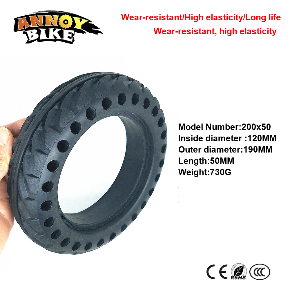 8 Inch Honeycomb Tire Solid Tire 200X50 Electric Scooter Rear Wheel Electric Bicycle Motor Rear Wheel Solid Tire Special цена