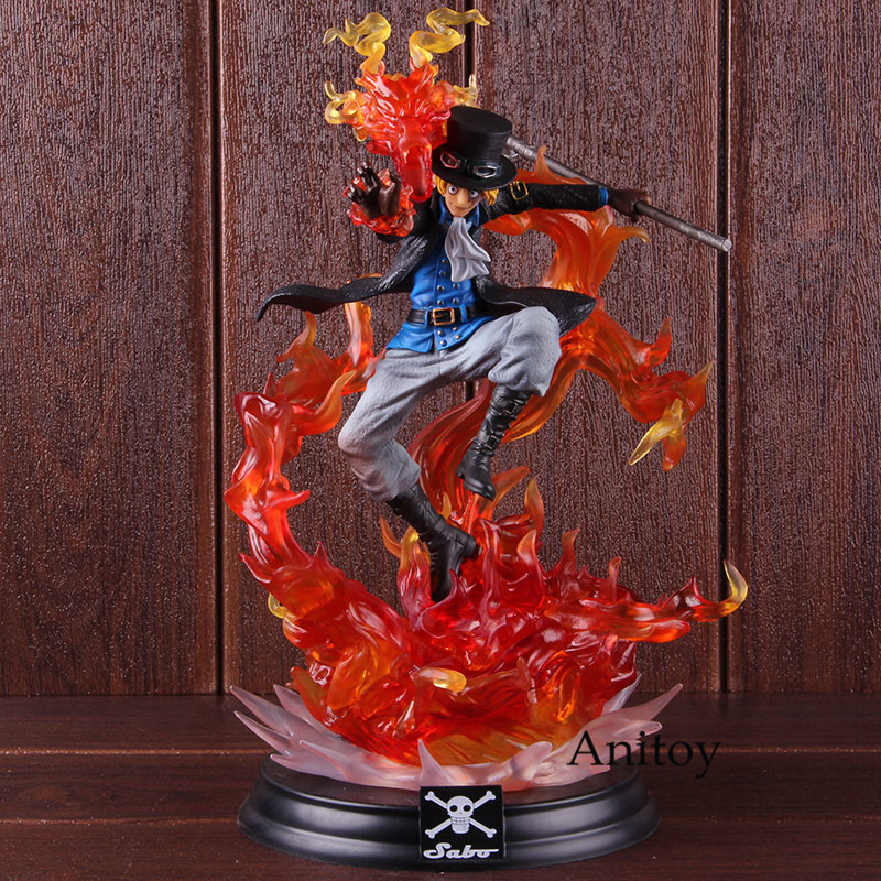 Anime p.o.p xl 원피스 sabo 액션 피규어 모션 능력 동상 초상화. of. pirates 원피스 sabo collectible model toy-에서액션 & 장난감 숫자부터 완구 & 취미 의  그룹 1