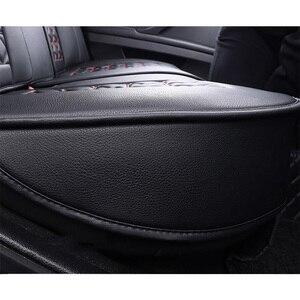 Image 4 - (Anteriore + Posteriore) speciale seggiolino auto Pelle copre Per Toyota Corolla Camry Rav4 Auris Prius Yalis Avensis SUV accessori auto auto