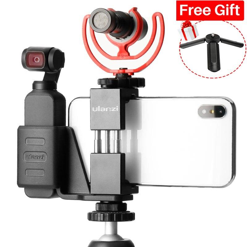 Ulanzi OP-1 Osmo bolsillo accesorios sostenedor del teléfono móvil conjunto de montaje fijo soporte para Dji Osmo bolsillo de cámaras