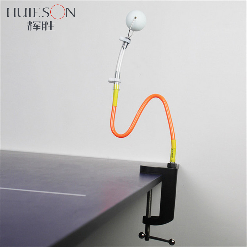 Huieson Upgraded 7.5cm Clamp Size Adjustable Table Tennis Training Robot Ping Pong Stroking Trainer Table Tennis Accessories