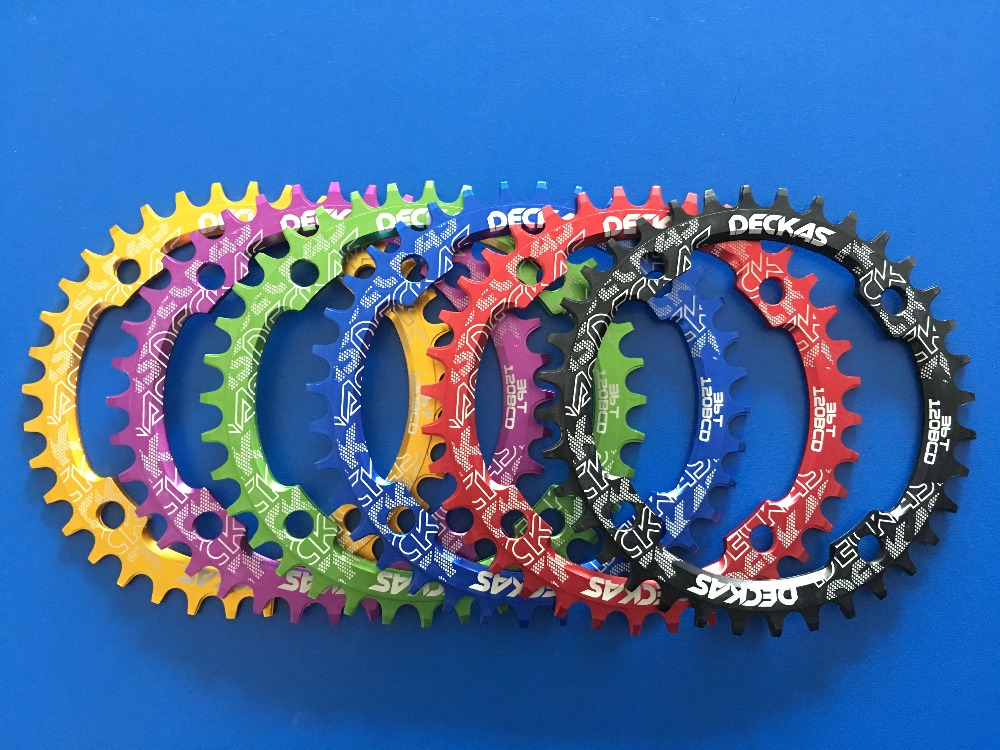 DECKAS round Bicycle <font><b>120bcd</b></font> Narrow wide tooth Circle Chainring image