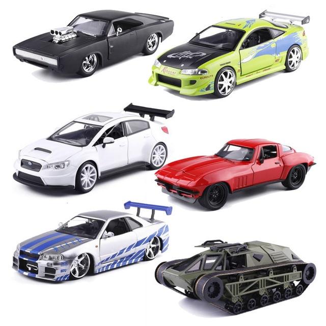 JADA 1/24 масштабная модель автомобиля игрушка Форсаж 8 Dodge Ford NISSAN Chevrolet TOYOTA HONDA литой металлический игрушечный автомобиль для подарка подарки для детей