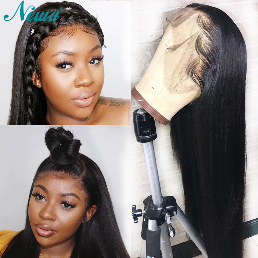 Newa Hair 13x6 Lace Front Human Hair Wigs Pre Plucked With Baby Hair Straight Lace Front