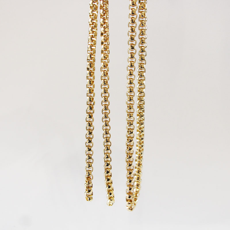Light Gold Color 7mm Thickness Metal Purse Bag Chain Fashion Wholesale Bag Strap Nice Handbag Obag Chain Handle Strap Bag Chain ...