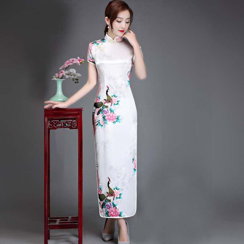 5dc354bda5 Plus Size 6XL Summer 5XL New Qipao Women Silk Rayon 4XL Cheongsam Ladies  Long Cheongsam 3XL Short Sleeve Party Ceremonial Dress