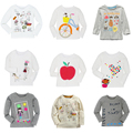 12 Style Boys Girls T-shirt Kids Tees Baby Boy Girl Shirts Cardigan Blouse Jacket Children Sweater Long Sleeve 100% Cotton Brand