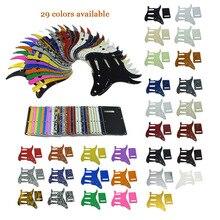 ST Strat Guitar Pickguard, Trem Cubierta y Tornillos SSS Varios Colores