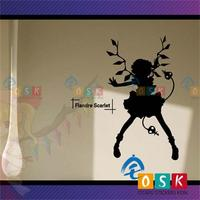Oriental Red Devil Hall 2 Miss Wall Stickers Anime Vampire Game Cartoon / glass paste