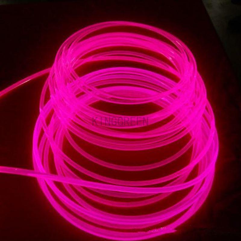 10 m X 3mm diameter hoge kwaliteit side glow glasvezelkabel transparante solid core glasvezel kabel gratis verzending