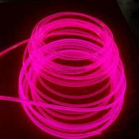 10m x 3mm diâmetro de alta qualidade lado brilho cabo de fibra óptica transparente núcleo sólido cabo de fibra óptica frete grátis