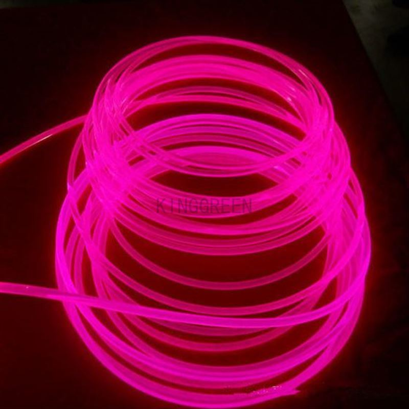 10mX 3mm diameter high quality side glow fiber optic cable transparent solid core optical fiber cable free shipping