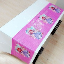 Princess Sofia Party Supplies Disposable Tablecloth Kids Birthday Decoration Baby Shower Favors Girls 108x180cm 1