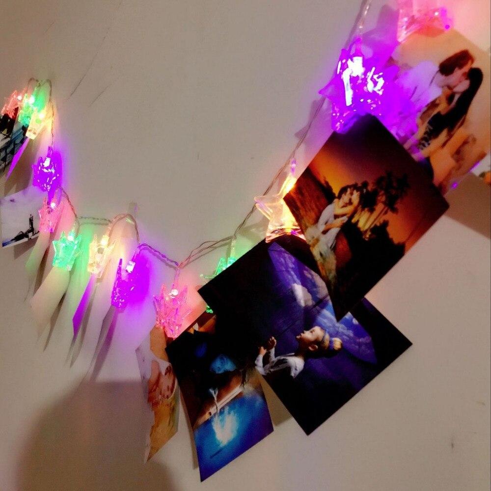 4 м светодиодный свет шнура с держатель фото 40 светодиодный гирляндой Крытый Открытый Декор для дома Вечерние свадебные