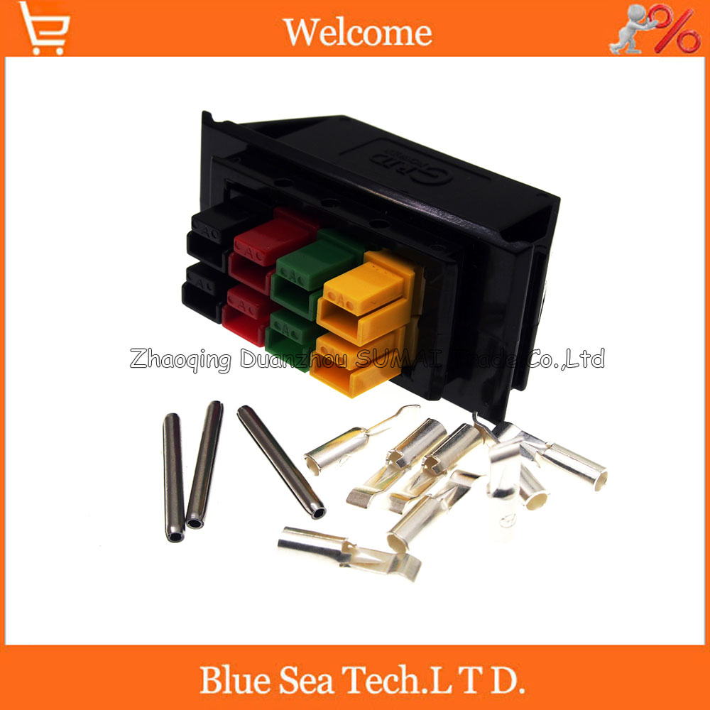 New 8 Pin 30A 600V 8 Pole/Wire female Power Connector module Battery Plug kits For UPS forklift electrocar ect. Assembly 1 sets new 1pin 120a 600v power connector battery plug male
