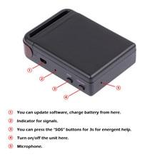 100 unids/lote DHL Envío de la Alta Calidad Mini GPS/GSM/GPRS Vehículo Car Tracker Dispositivo de Rastreo En Tiempo Real TK102B Persona Dispositivo de seguimiento