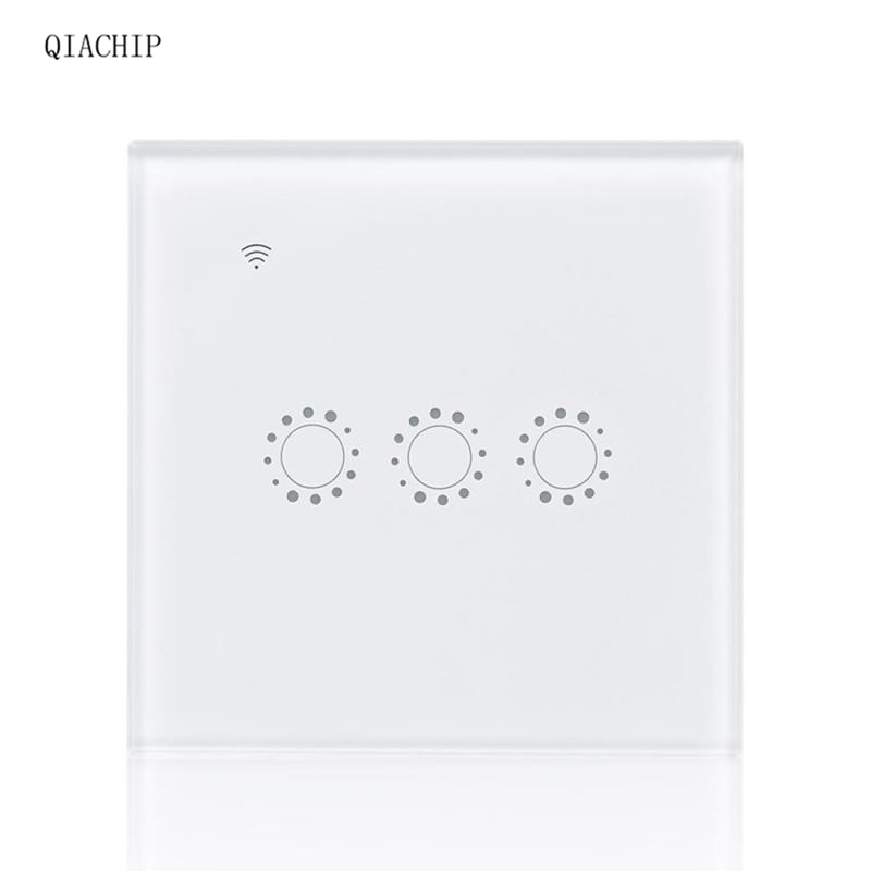 WiFi Smart Switch 3 Gang Plug Wall Switch APP Remote Control Work with Amazon Alexa Google Home Supported Share Control EU Light wireless wifi switch smart home automation module timer diy light wall switch app control work with amazon alexa voice control