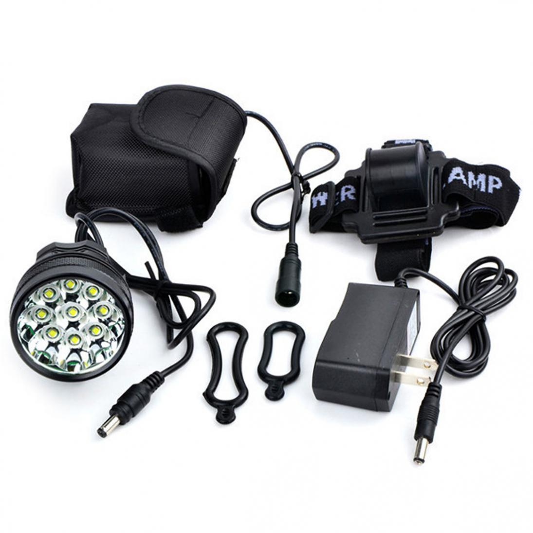 Բարձրորակ 15000Lm 9 x XM-L T6 LED Camping - Հեծանվավազք - Լուսանկար 6