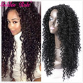 Golden Rule Fashion Kinky Curly Synthetic Long Full Head Wig With Free Wig Cap Heavy Density Natural Color Wigs For Women 22inch
