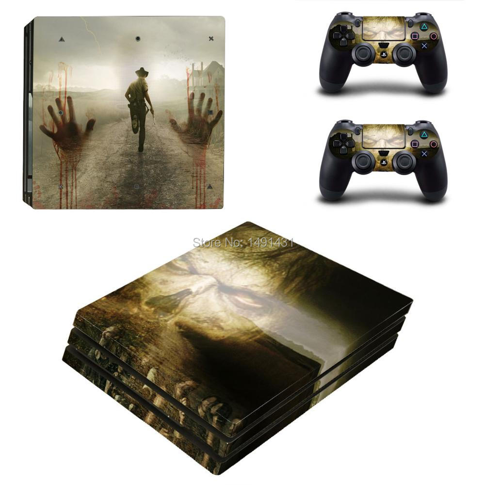 OSTSTICKER Walking Dead For Sony PS4 Pro Vinyl Skin Sticker Cover For Playstation 4 Pro Decal