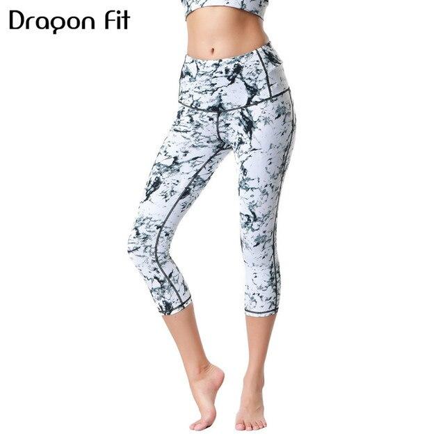 5aa817cf16 Dragon Fit Yoga Pants Capris Gym Slim High Waist Stretch Sport Pants  Workout Leggings Women Sportswear Clothes Fitness Trouser
