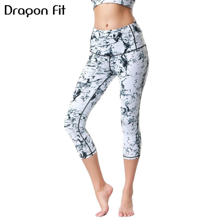 Dragon Fit Yoga Pants Capris Gym Slim High Waist Stretch Sport Pants Workout Leggings Women Sportswear Clothes Fitness Trouser