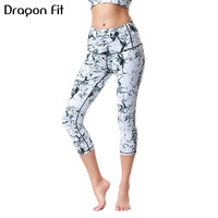 Dragon Fit Yoga Pants Capris Gym Slim High Waist Stretch Sport Pants Workout Leggings Women Sportswear