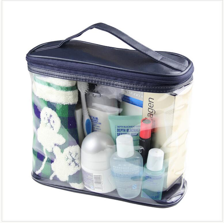 Waterproof Transparent Cosmetic Bag Women Portable Toiletry Kits Cosmetic Organizer Brand Make Up Bags Fast Shipping 200pcs/lot
