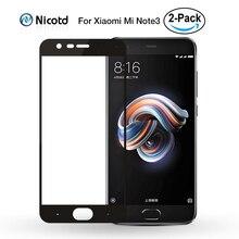 2 pièces/lot pour Xiaomi Mi Note 3 verre trempé Mi Note3 protecteur décran 2.5D courbe pleine couverture Film décran Xiomi pour Xiaomi Note 3