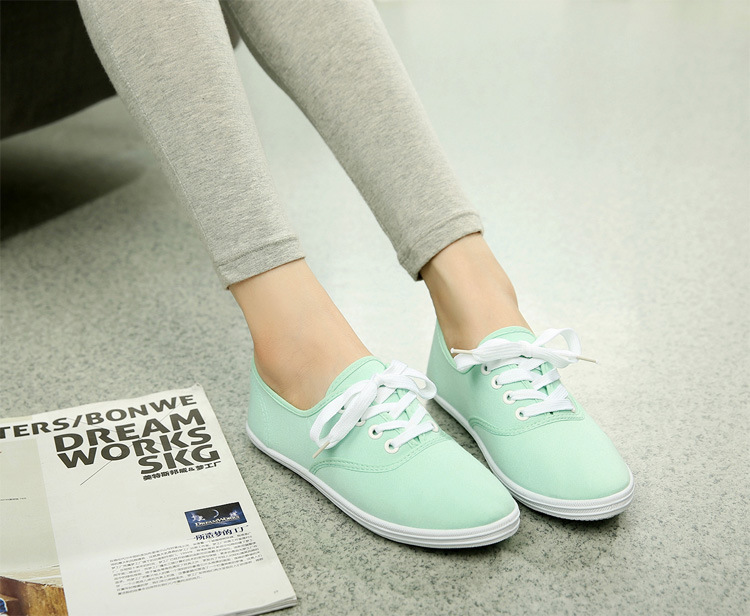 cadarço, casual, sapatos brancos, cores pastel respirável, espadrille 44