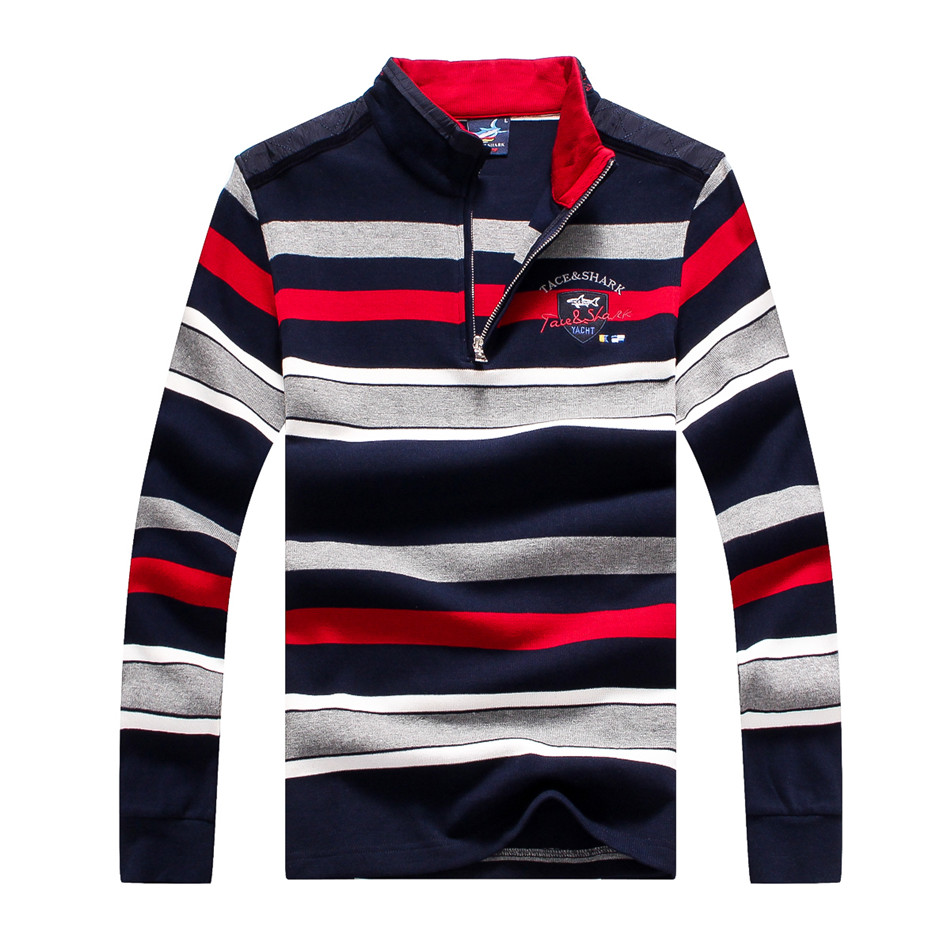 Taceshark Polo Brand Clothing Polo Shirt Men Mens Winter Shirts