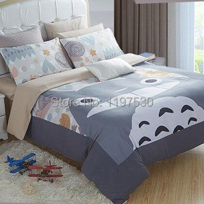 Envío libre! Nuevo diseño Totoro edredón, 3 unids/4 unids