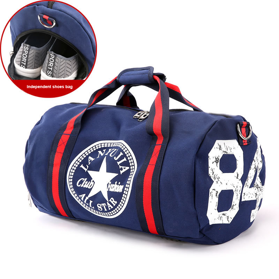 2018 Canvas Women's Travel Bags Yoga Gym Bag for Fitness Shoes Handbags Shoulder Crossbody Pouch Women Men Sac De Sport Pack