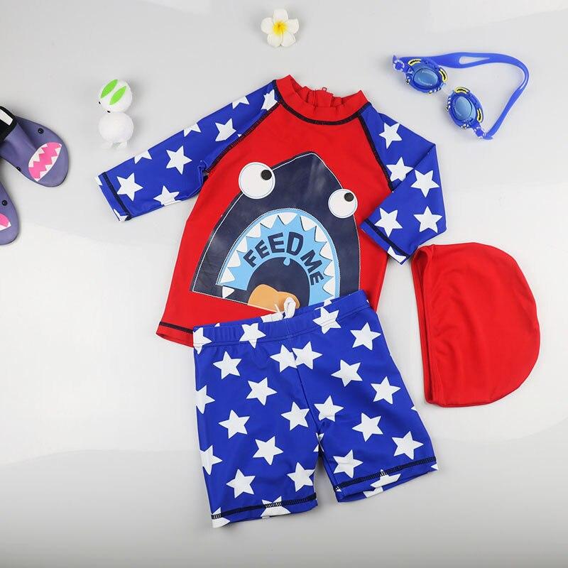 Baby Boys Swimsuit For Children Sunscreen Quick Drying  Girls Swimwear Shark Swimsuit For Girls Infant Baby Trunks Shorts