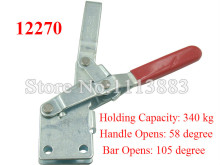 2PCS Holding Capacity 340KG 750LBS Vertical Toggle Clamp 12270 U Bar Straight Base Handle