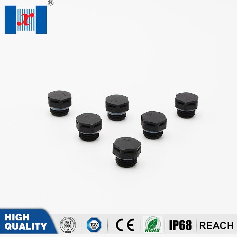 10 Pcs/bag  M10*1 Waterproof Screw Vent Plug Nylon Breathable Screw Vent Valve For LED Lighting Or Enclosure