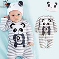 Fashion Unisex New Born Baby girls Boys Clothes Long Sleeve Striped kids Rompers Spring Autumn 5 Cute Animals Styles Jumpsuits