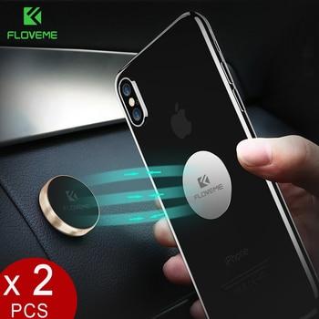 FLOVEME Magnetic Car Phone Holder[2 pack],Universal Wall Desk Metal Magnet Sticker Mobile Stand Phone Holder Car Mount Support
