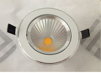 Free Shipping High Bright Dimmable COB 15W Recessed LED Down Light Warm Cold White LED Spot