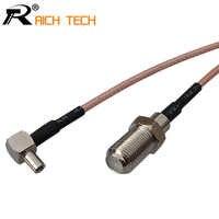 Anpassen Koaxial RF Kabel 3G modem kabel TS9 rechtwinklig schalter F typ weiblich zopf kabel RG316 15cm großhandel preis