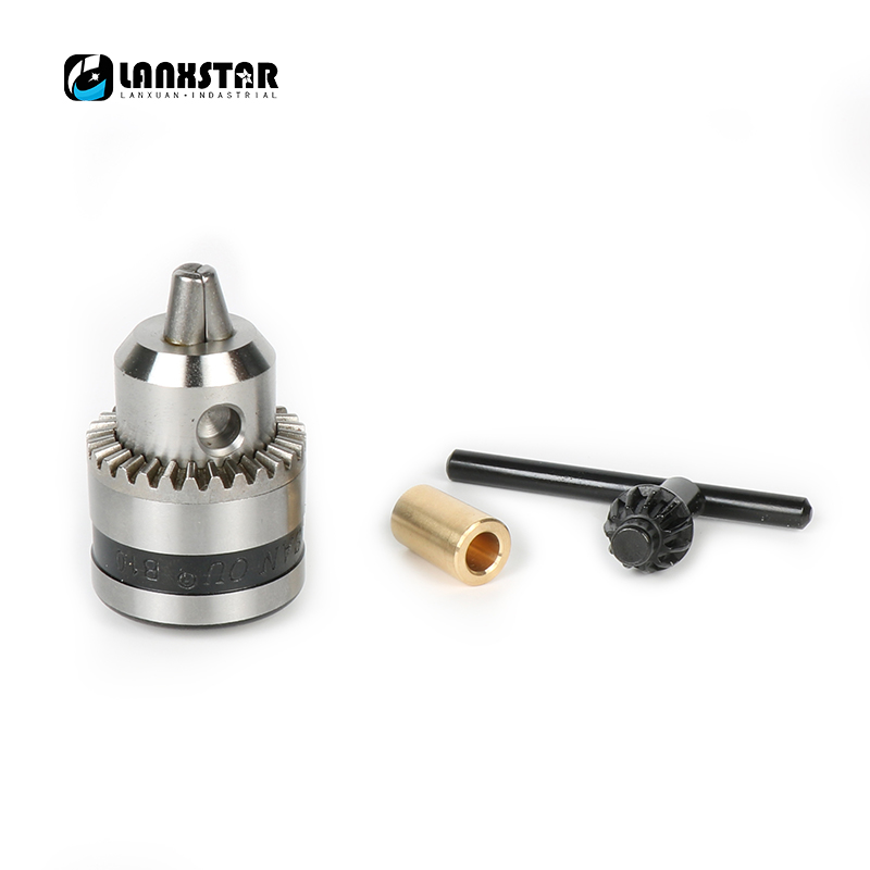 Lanxstar B10 Micro Motor Tapered Chuck With Casing And Motor Shaft3.17mm 4mm 5mm 6mm 6.35mm 7mm /8mm Power Tool Clamping 0.6-6mm