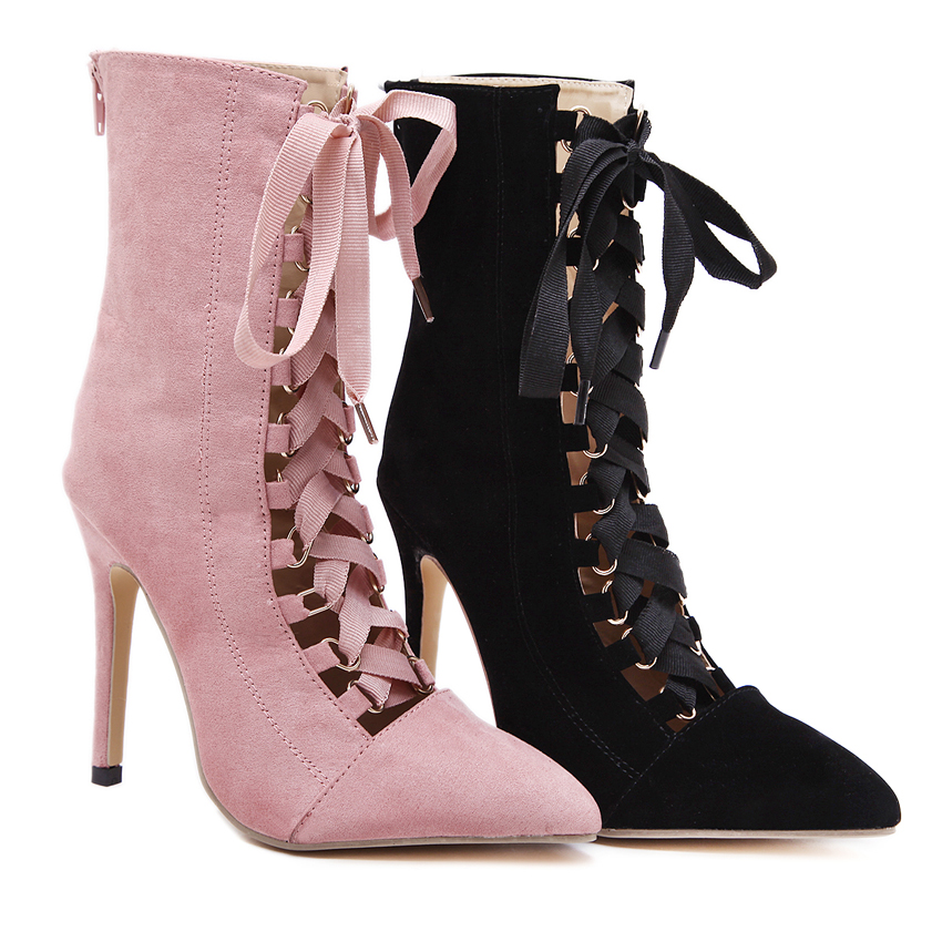 Dijigirls Black Gladiator High Heels Women Pumps Ladies Stilettos Open Toe High Heels Booties Fashion Women Shoes High Heel