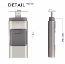 multifunction Flash Drive USB Memory Stick For Apple iPhone 5 6 6S iPad OTG Device 16GB free shipping