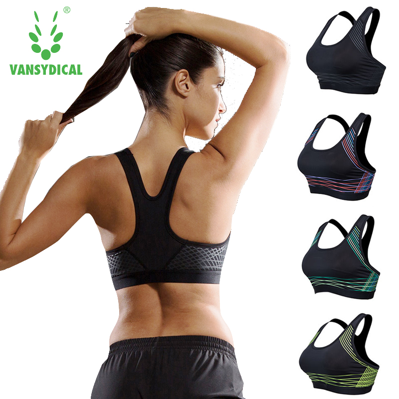 aliexpress com buy women fitness yoga sports bra for running gymwomen fitness yoga sports bra for running gym padded wire free shake proof underwear push up seamless fitness top bras sport