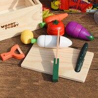 子供キッチンおもちゃ切削果物野菜遊びミニチュア食品子供木製玩具赤ちゃんの早期教育実生活食品おもち
